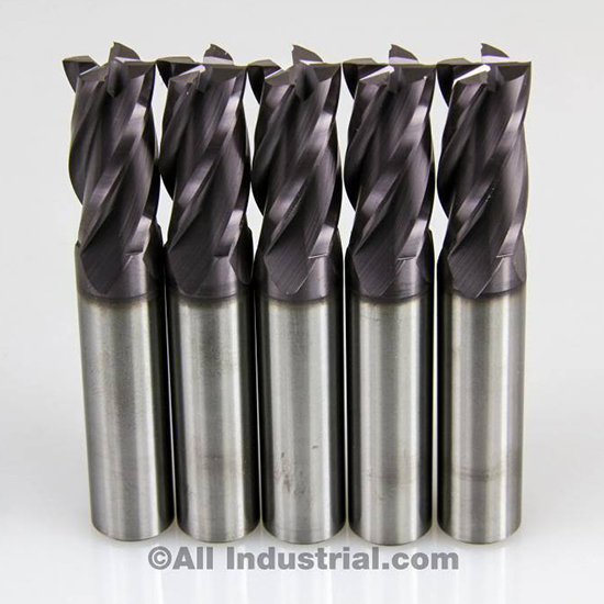 2-1//2 3//8 Shank Diameter 4 Flute TiAlN Carbide End Mill Single